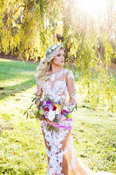 Nude Sheath Dress With White Lace Appliqu 233 Ss16105