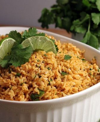 Cilantro Lime Basmati Brown Rice. Inspired by Chipotle's! This was soooo good! We made burritos bowls like at chipotle and it tasted just like theirs. Plus, it made a lot of rice for leftovers. Is it lunch time yet??