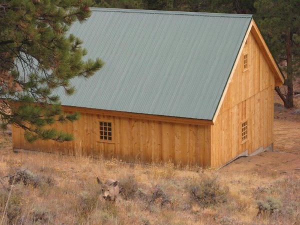 Hillside barn https www for Traditional barn kits