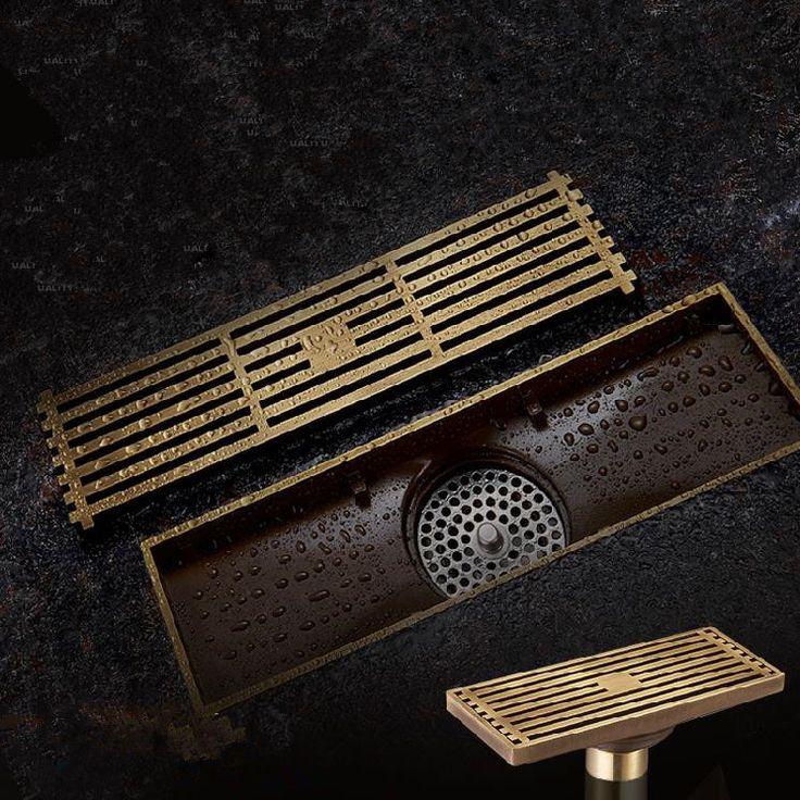 Brass Bathroom Linear Shower Drain ($43)