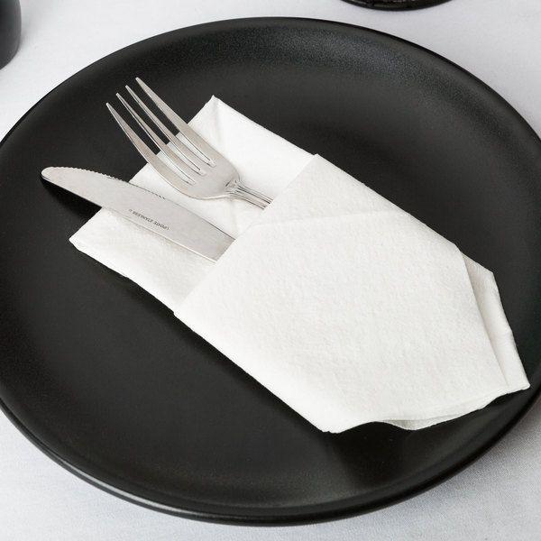 Choice White Linen Feel 1 8 Fold Dinner Napkin 800 Case Dinner Napkins Linen Feel White Linen