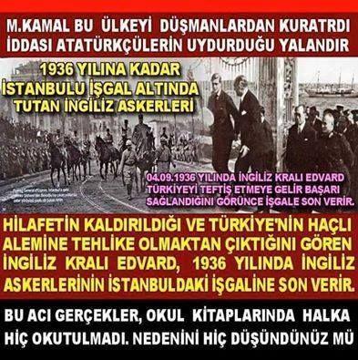 Yalan Yazan Söyleyen Tarih Utansin Atatürk mason Edvard ingiliz