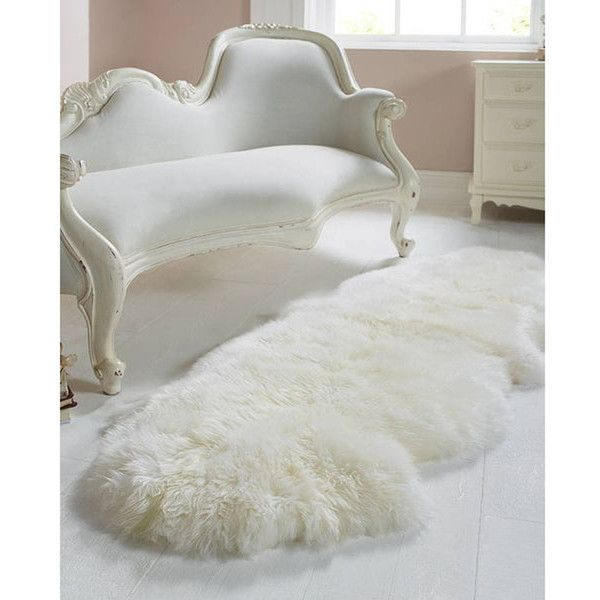 Royal Dream Large Sheepskin Rug   Neutral ($58) ❤ Liked On Polyvore  Featuring Home