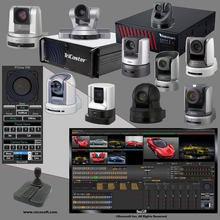 Rocosoft PTZJoy Controller - VISCA PTZ Camera Control Software for Newtek TriCaster and Livestream:Amazon:Software
