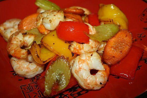 Shrimp and Veggie Stir-Fry (Actifry)