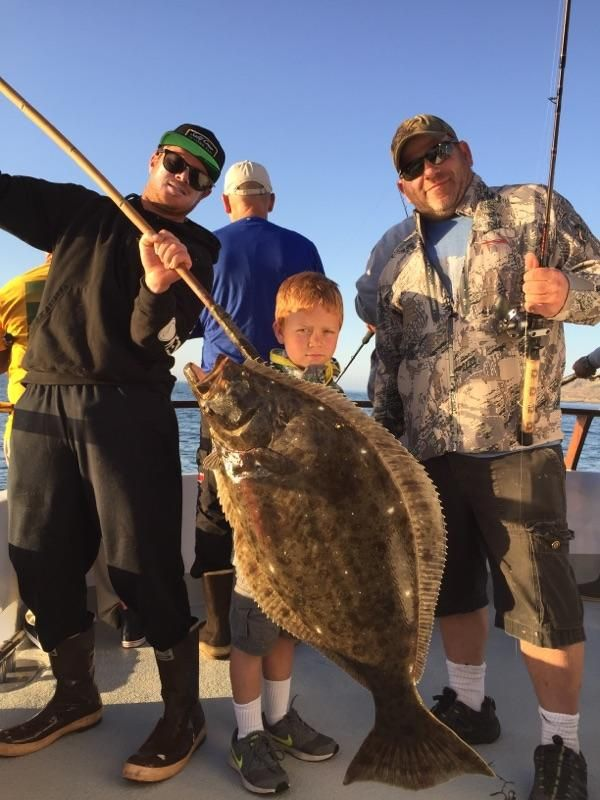 California halibut ranger 85 kid fishing halibut fishing for Halibut fishing charters washington