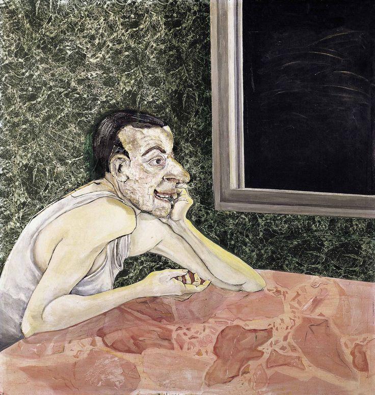 Hombre Gris, 1982. Técnica mixta sobre madera, 110 x 104 cm.