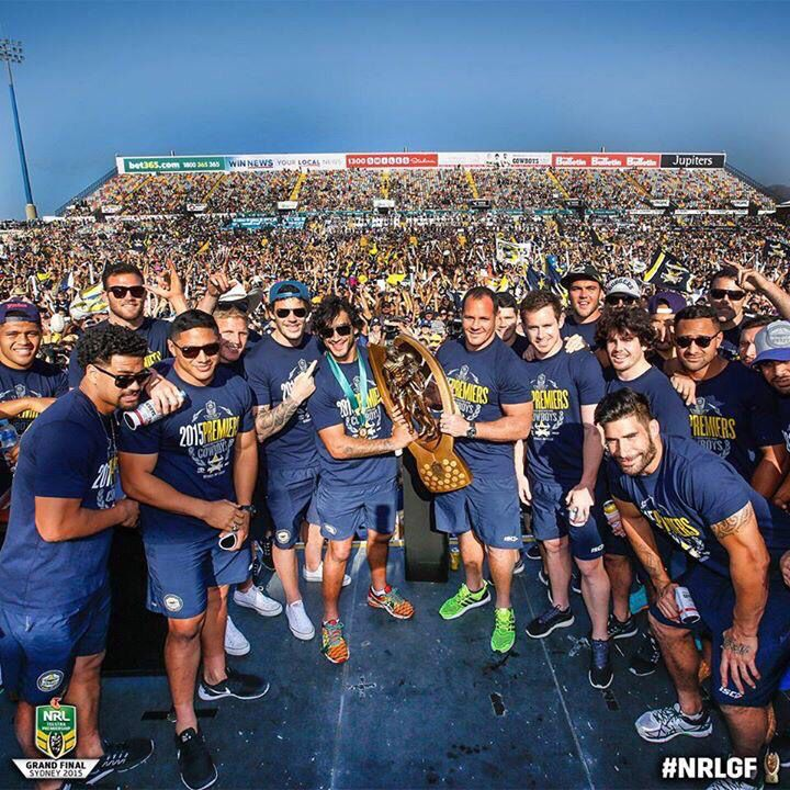 Townsville community turn out to celebrate with the Cowboys