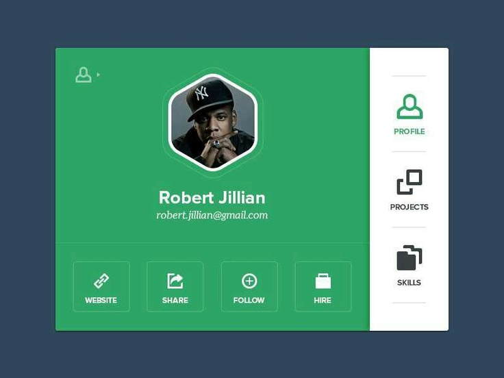 Social app pro file ui