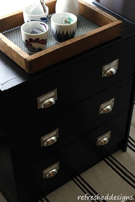 industrial-look IKEA RAST chest