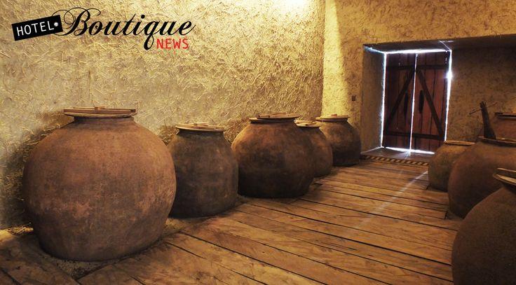Tinajas de cientos de años de antiguedad ubicadas en Bodegas Re