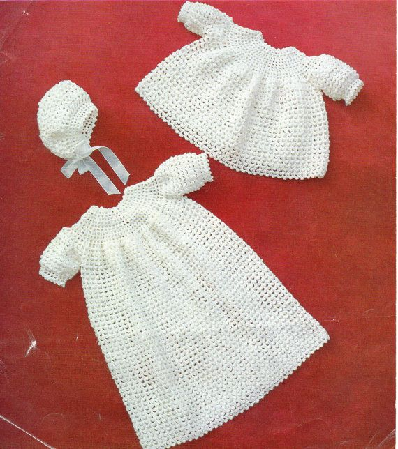 Crochet Baby Robe Pattern : The 236 best images about Nostalgia Patterns - Etsy on ...