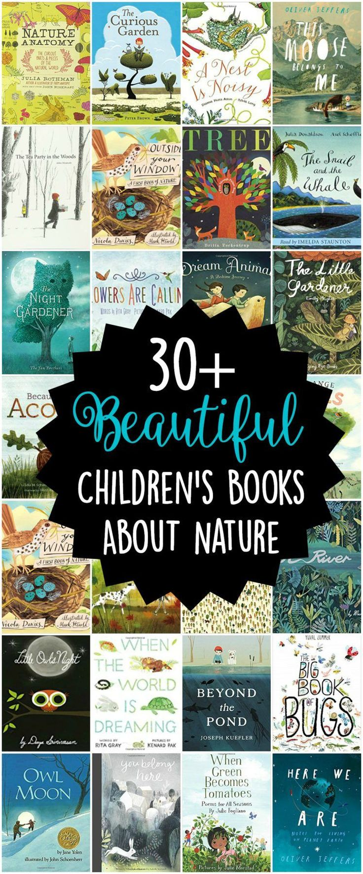 30 Beautiful Children's Picture Books about Nature - nature books for kids #PicturesBook