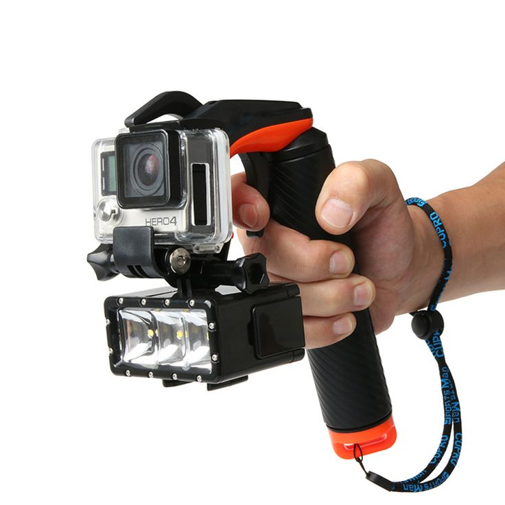 SANGER for GoPro Accessories shutter trigger Diving Buoyancy Selfie stick Diving mask lights for Go pro hero 5  action