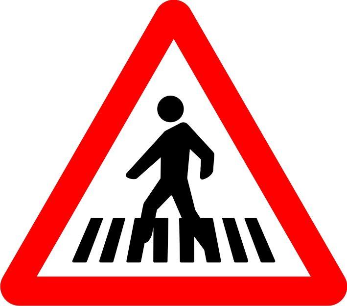 Señal paso para peatones