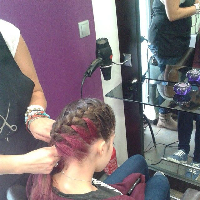 #pink #braid