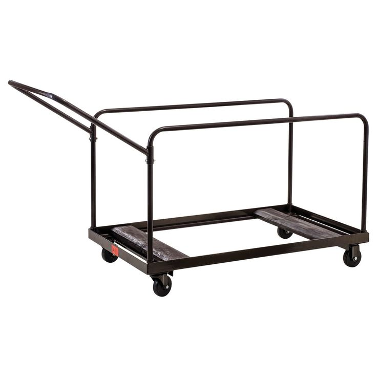 National Public Seating Round Folding Table Dolly