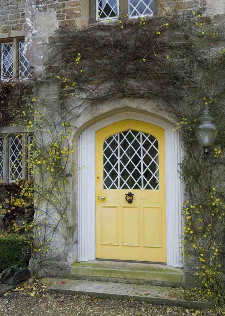 Knocking On The Front Door Of The Country Cottage A