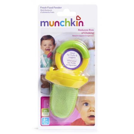 Munchkin Ниблер  — 370р. --------------------------------------- Ниблер салатового цвета марки Munchkin. Ниблер позволит малышу наслаждаться свежими продуктами безопасно и без риска удушья. Кусочки овощей и фруктов будут находиться в сетчатом мешочке, а надёжная застёжка не дастребёнку случайно открыть ёмкость. Ниблер с удобной ручкой в форме кольца подходит для любой пищи, включая замороженные фрукты, бананы, морковь и прочее. Ниблер не содержит Бисфенол А, его можно мыть в посудомоечной…