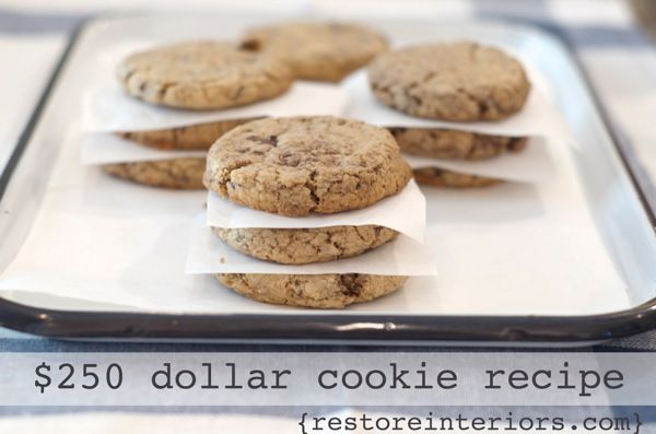 $250 cookies - this is the same recipe I've used for years now but it was given to me as Neiman Marcus cookies.