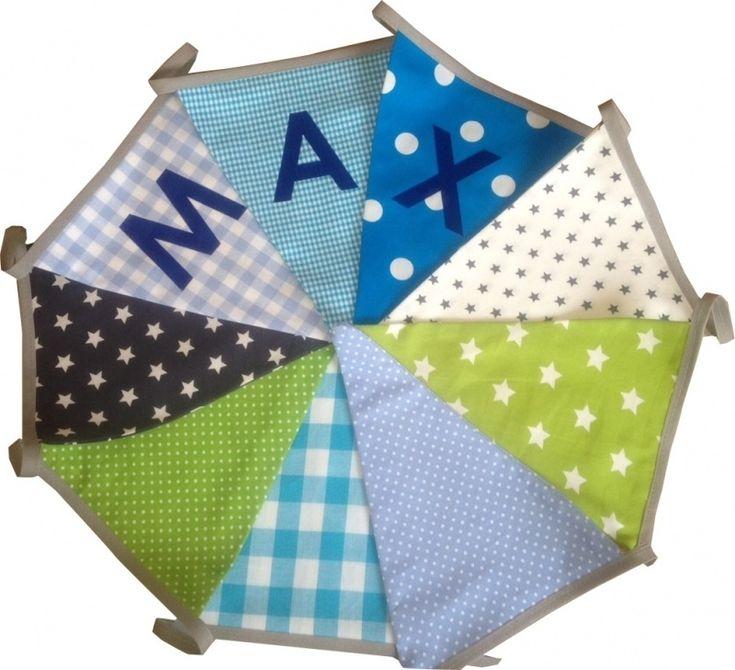 Vlaggetjes met naam: ontwerp Max