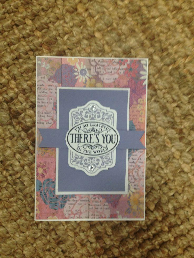 Stampin Up Chalk Talk stamps and framelits, Wisteria Wonder ink.