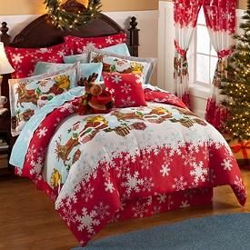 Christmas bedspreads | Christmas Bedding Twin on Reindeer Christmas Holiday Comforter Sheets ...