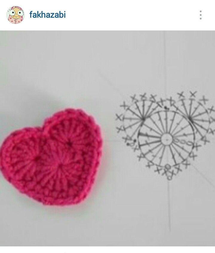 89 best Crochet hearts/stars images on Pinterest | Crochet hearts ...