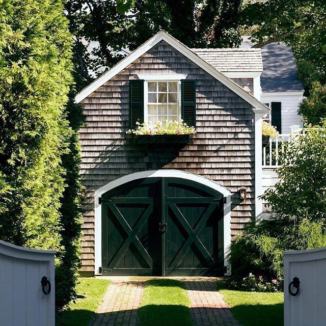 30 Gorgeous Garages You Ll Want To Move Into The Glam Pad Carriage House Plans Carriage House Garage Garage Door Styles
