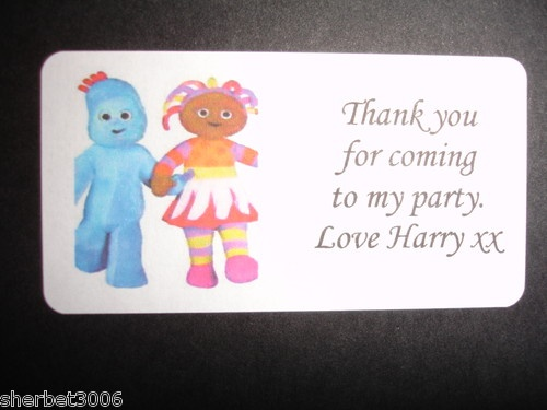 Personalised In the Night Garden Address or Party Thank You Labels Stickers Med | eBay