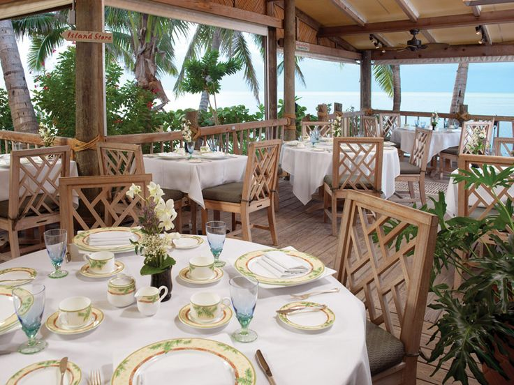 the dining room - little palm island resort & spa, (just off