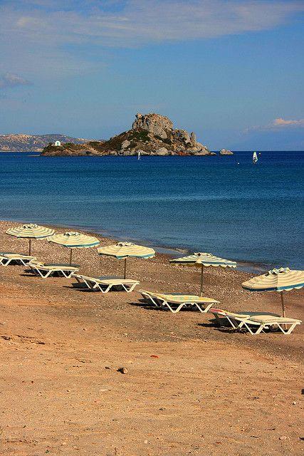 Kamari beach (Kefalos) in Kos