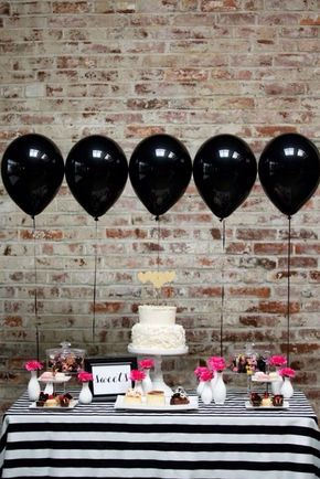 All Black balloons too