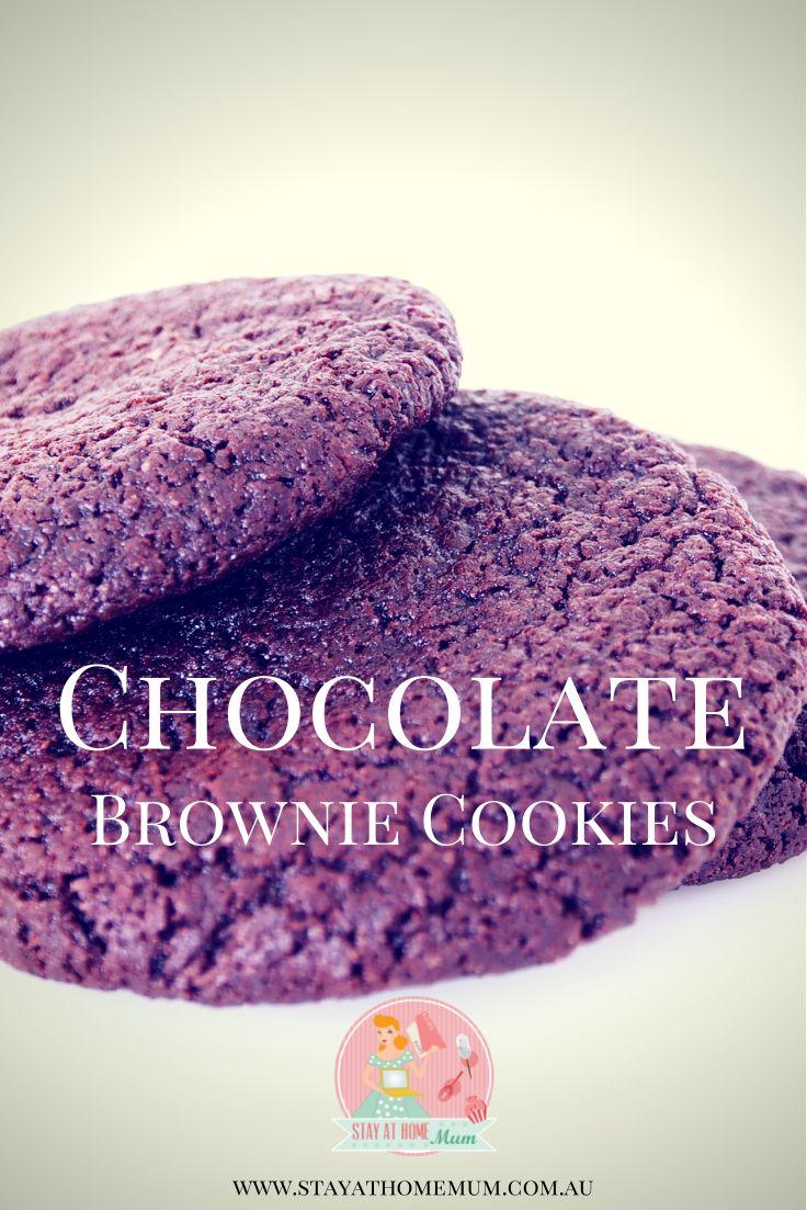 Chocolate Brownie Cookies | Stay at Home Mum #Chocolate #Cookies