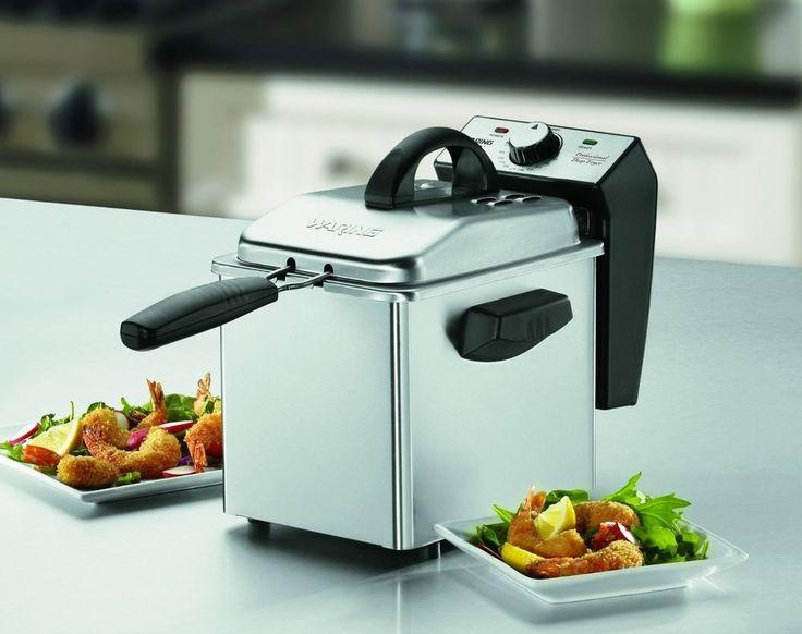 Deep Fryer Machine Mini Small Fry Fish Fried Potatoes Chicken Donuts fast food #Waring