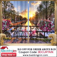 $15 Off for Orders Above $129,  Coupon Code: 3DCURTAIN