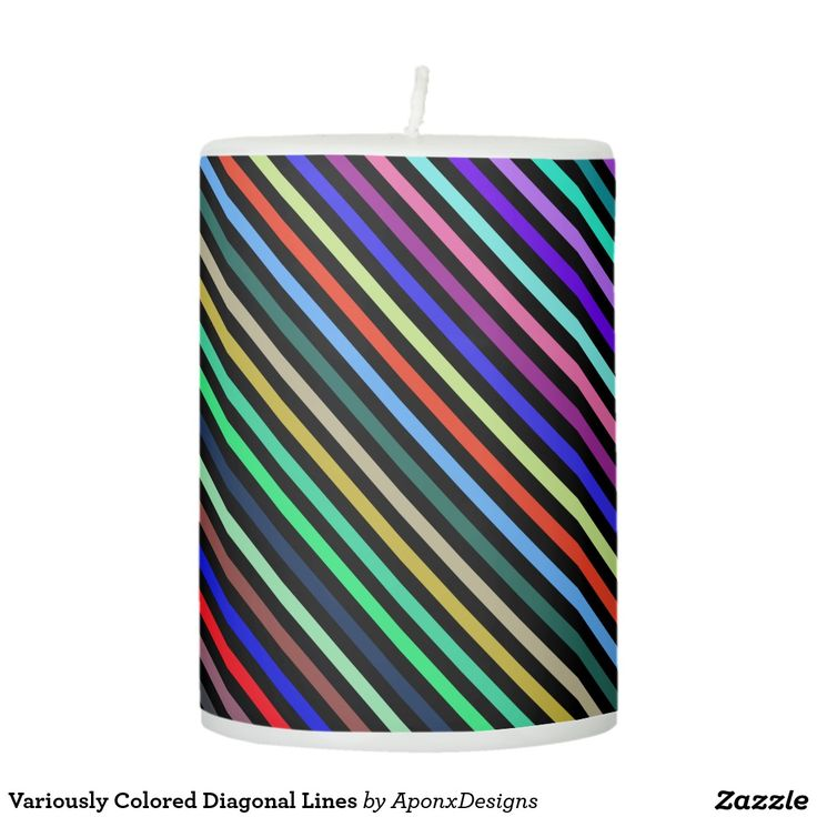 Variously Colored Diagonal Lines Mug