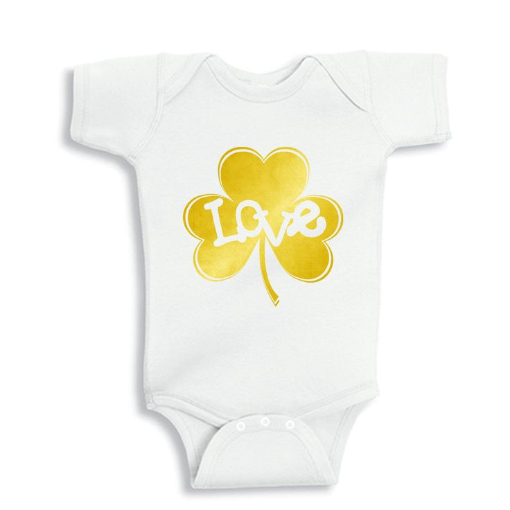 234 best baby onesies images on pinterest babies clothes baby gold love inside shamrock personalized baby bodysuit or infant t shirt by bodysuitsbynany on etsy negle Choice Image