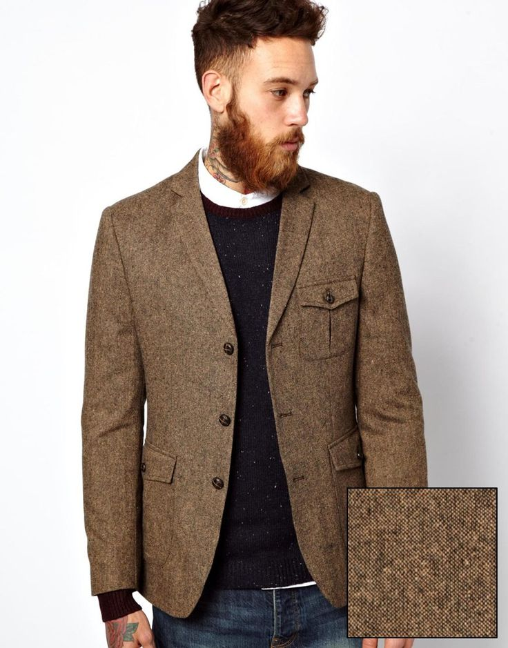 ASOS Slim Fit Blazer In Donegal