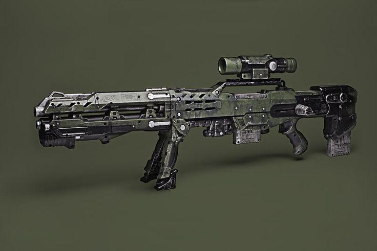 Nerf Longshot CS-6 WWII Mod by meandmunch.deviantart.com on @deviantART