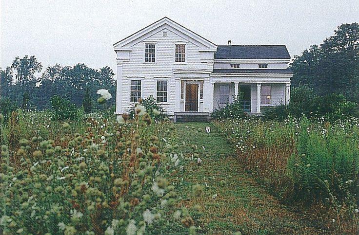 Circa 1847 Greek Revival Farmhouse. Featured in American Farmhouses. Classic White Farm House.