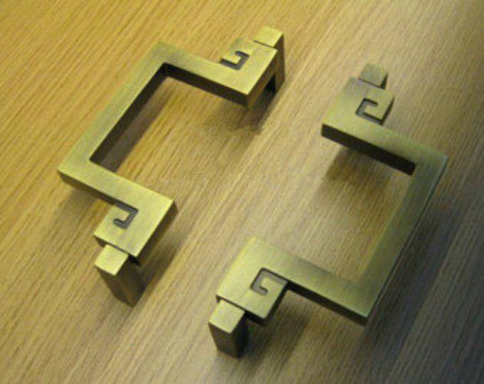 "3,75"" 5"" dressoir knoppen trekt lade Pull grepen antieke bronzen Brass keukenkast trekt deur handvat Vintage meubels Hardware 96 128"