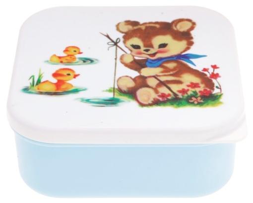 Snack Box - Bear Fishing Blue Large   Alimrose Designs