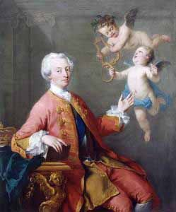 Frederick, Prince of Wales (1707 - 1751). Son and heir of George II and Queen Caroline. He and his parents hated each other. He married Augusta of Saxe-Gotha and had nine children before he died in 1751.