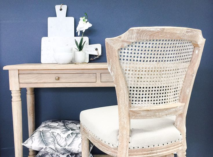 'April' Luxury Upholstered Kitchen Stool in a whitewash finish