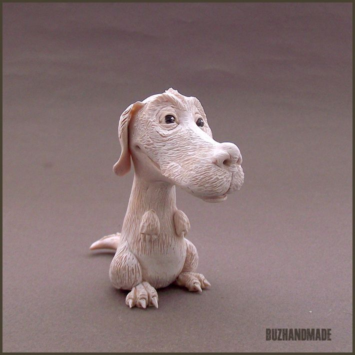 FALKOR Luckdragon| NeverEnding Story | Polymer CLAY sculpture | BUZHANDMADE
