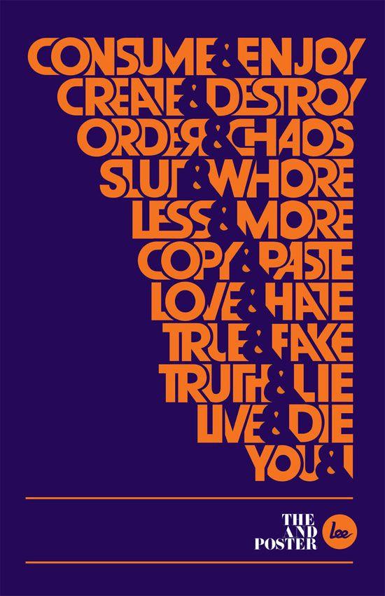 28 cartazes tipográficos para inspiração   Criatives   Blog Design, Inspirações, Tutoriais, Web Design