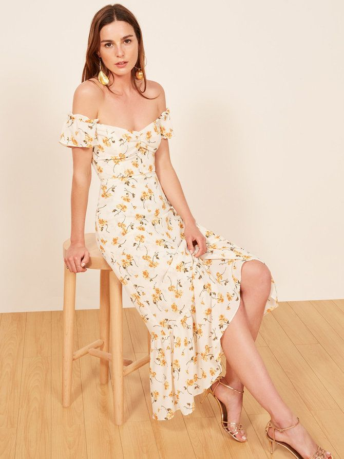 461f47543a The Reformation Butterfly dress in Limonada