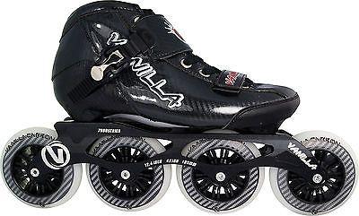 Men 47346: Black Vanilla Carbon Inline Speed Skates - 4 X 100Mm Wheels Size 1-13 -> BUY IT NOW ONLY: $249 on eBay!