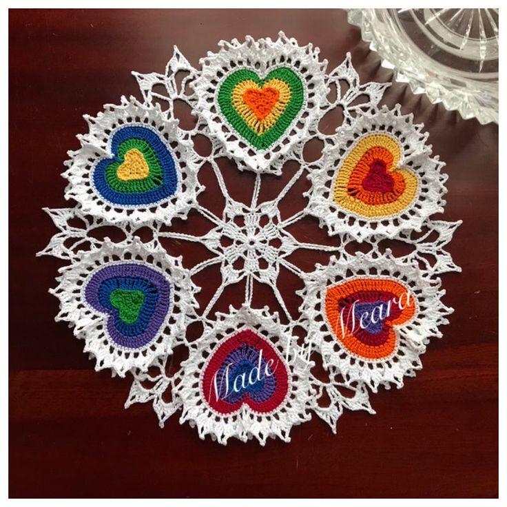 PATTERN--Valentine Heart Crochet Doily Pattern--Digital PDF--Written Pattern in US English Terms--Original Design--Crochet Thread Pattern